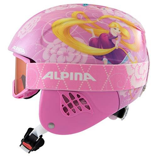 Alpina Unisex-Erwachsene CARAT SET DISNEY Ski- und Snowboardhelm, Rapunzel, 51-55 cm