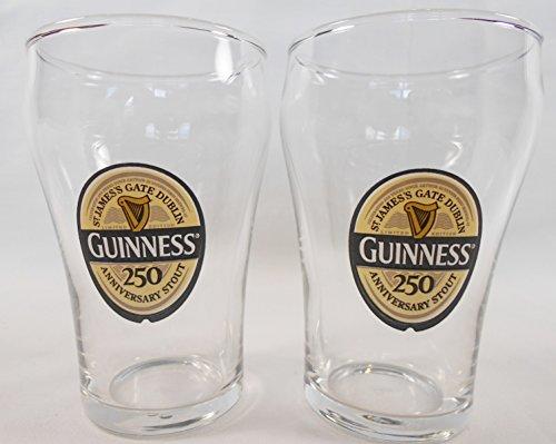 Guinness 250th Anniversary Mini-Biergläser, 2er-Set à 170 ml Libbey Mini