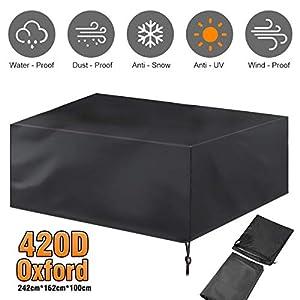 Gartenmöbel Abdeckung, Abdeckplane Gartenmöbel 420D Oxford tuch für Sitzgarnituren , Gartentische und Möbelsets UV…