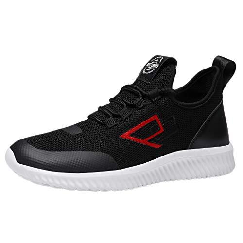 Xmiral uomo scarpe da ginnastica corsa sportive fitness running palestra sneakers basse scarpe comode per camminare jogging 46 nero
