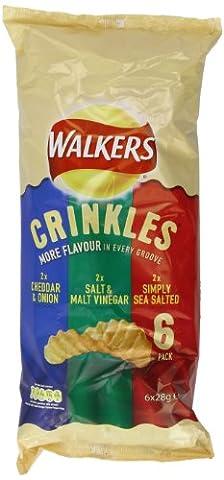 Walkers Crinkles Variety Crisps 6 x 28 g (Pack of 16)