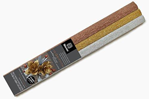 Lia Griffith extra fine crepe Metallic Paper–3colori assortimento