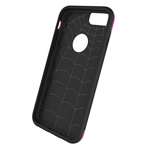 MXNET Case für iPhone 6 Plus & 6s Plus, Einfache Brushed Texture 2 in 1 PC + TPU Combination Schutzhülle Holster iphone 6p/6s plus ( Color : Gold ) Magenta