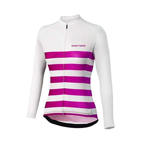Uglyfrog Neue Bike Wear Damen Atmungsaktiv-Langarm-Rennradtrikot Rennrad Trikot, Gore Selected Fabrics, Power Lady Great Gifts Fahrradbekleidung