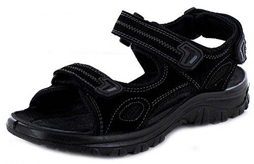 7201 Marco Tozzi Herren Leder Pantolette Black Comb