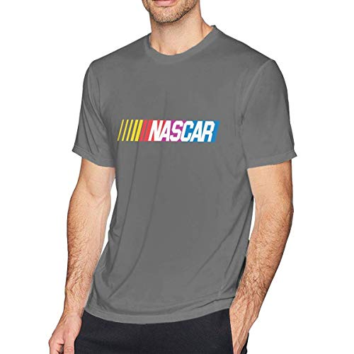 Herren Hemd NASCAR T-Shirt Lässige Baumwolle Tee Shirts Kurzarm Shirt für Herren Jugend Jungen T-Shirt DeepHeather M - Corvette Sweat-shirt