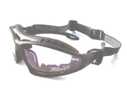 Ladgecom Klar Sonnenbrille Ski Brille Snowboard Damen Herren Schwarz