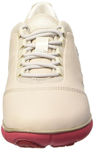 Geox Nebula A, Scarpe Low-Top Donna Bianco (Off White/Coral)