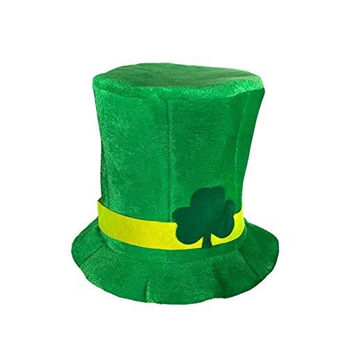 ck's Day Hut, Kostüm, Shamrock Velvet Hut, Velvet Hat, Magic Hat, irischer Hut, Kleid Zubehör, St. Patrick's Day Party Supplies ()