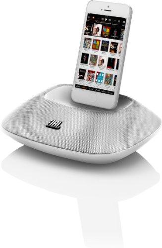 JBL OnBeat Micro tragbarer Lautsprecher Dock mit New Lightning Connector für iPhone 5 - weiß