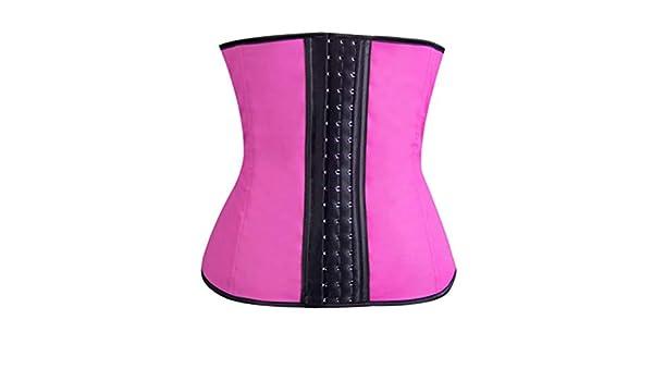BESTOYARD Womens Latex Underbust Corset Waist Trainer Cincher Body Shaper Shapewear Pink