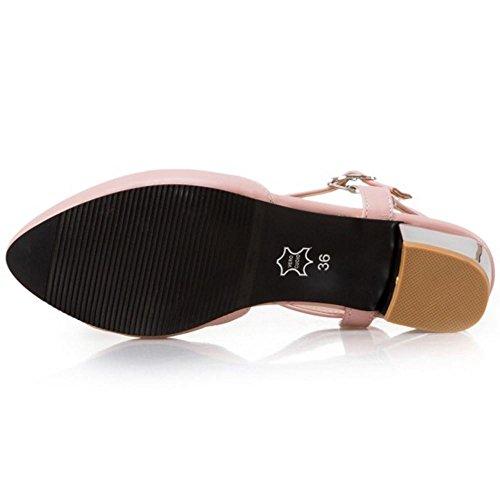 Pattini Slingback Ditta Blocco Rosa Donna Dopo I Coolcept Formato Caviglia Il Sandali Attraverso Di Alla Di Tacco Cinturino Moda 4ZFgFq