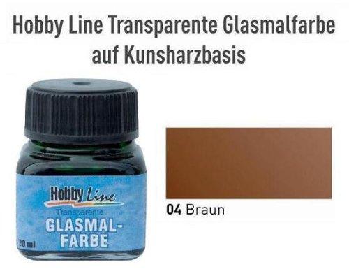 HOBBY LINE Glasmalfarbe transparent auf Kunstharzbasis Braun Gl.20 ml