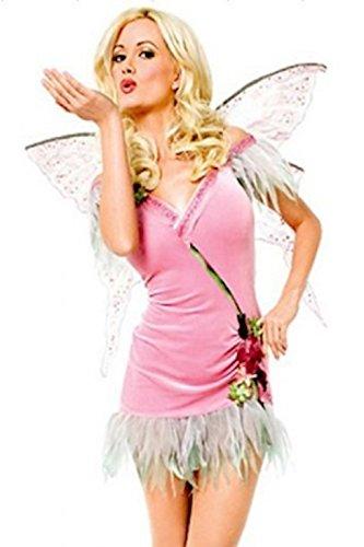 (Damen Engel/Blumenfee Wassernymphe Kostüm Kleid Flügel und Tanga Größe 36-38)
