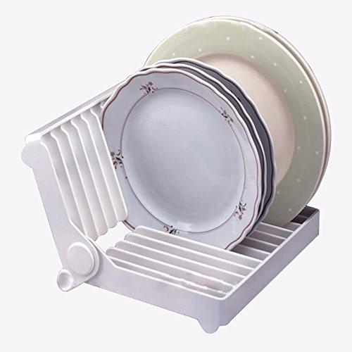 Premier Ecke Glas Regal (Faltbare Dish Drainer Rack von zielgerichtet - One Tier Platte, Glas, Schalen, Tassen Holder Stand - über dem Waschbecken Compact Küchenzubehör)