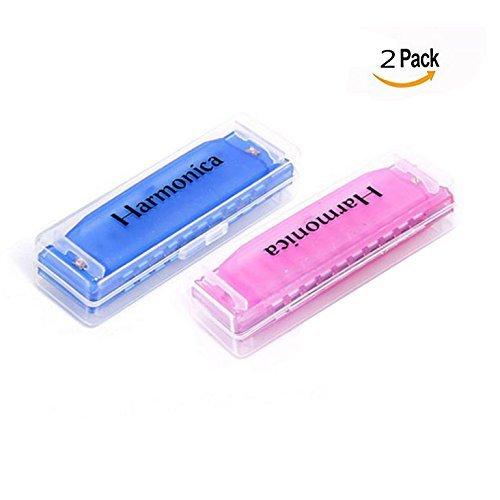 OFKPO 2 Stück Kinder Mundharmonika,Musical Pädagogisch Spielzeug/Mundharmonika Spielzeug(Blau und Rosa)