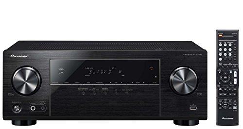Pioneer 5.1 Kanal AV Receiver mit DAB/DAB+, VSX-531D-B, Hifi Verstärker 130 Watt/Kanal, Bluetooth, Dolby Digital/TrueHD, DTS-HD, 4K UltraHD Durchleitung, Digitalradio, Eco Mode, Schwarz, 1500318