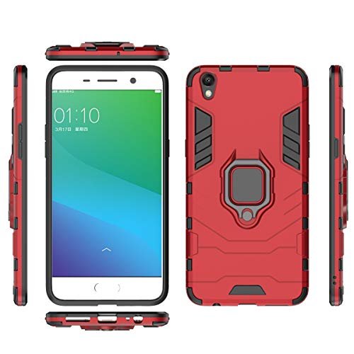 fitmore Oppo R9 Plus Hülle Slim Hülle [ Rückseite ] with Phone Case Slim Drop Protection for Oppo R9 Plus (Red)