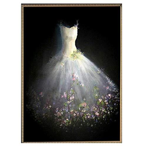 MYLOOO Hochzeitskleid, Blume, Diamant-Stickerei, 5D, DIY Diamant Malerei, Kreuzstich,...