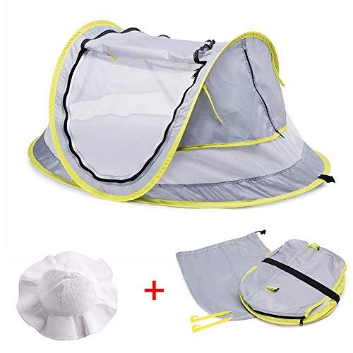 BuBu-Fu Baby-Strandzelt, UPF 50+ UV-Schutz Großes, Tragbares Pop-Up-Zelt Sicherheitsschutz Kein Schaden Baby-Reisezelt Baby-Reisebett Sonnenschutz Für Mädchen Jungen -