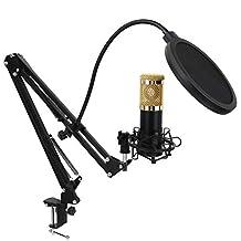 Queen.Y Professionele Condensatormicrofoon Opnamestudio Bm-800 Uitzending Voice over Streaming Opname Met Framekit
