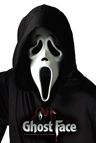 Scream Blutiges Kostüm - Ghost Face Scream Kostüm mit Maske für Erwachsene Gr. L/XL Zombie Geist Halloween Horror Farbe:Weiß
