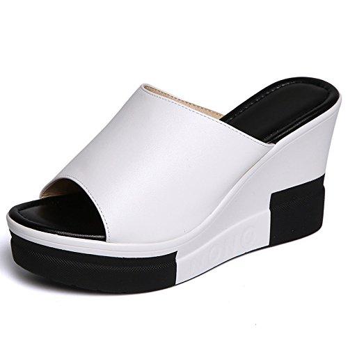 ZPPZZP Ms sandali pantofole a tacco alto spessa trascinare un campo 35EU