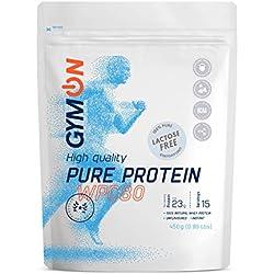 GYMON Lactose Free Whey Protein. Protéines de lactosérum en poudre sans lactose - 450g (Naturel)