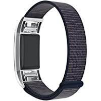 For Fitbit Charge 2 Strap , HARRYSTORE Nylon Loop Replacement Bracelet Smart Watch Band Sport Wrist Strap with Unique Magnet Lock for Fitbit Charge 2 Heart Rate and Fitness Wristband