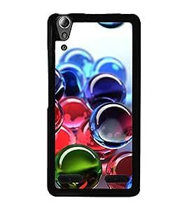 Colourful Marbles 2D Hard Polycarbonate Designer Back Case Cover for Lenovo A6000 Plus :: Lenovo A6000+ :: Lenovo A6000