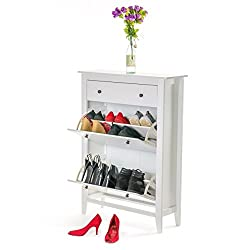 Home Treats White Shoe Storage Drawer. Deluxe Shoe Rack Up To 12 Pairs. 2-4 Tier.
