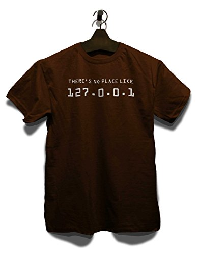 There Is No Place Like 127001 T-Shirt Braun