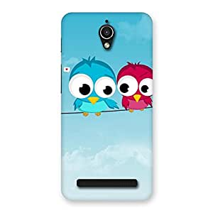 Cute Birds on Wire Back Case Cover for Zenfone Go