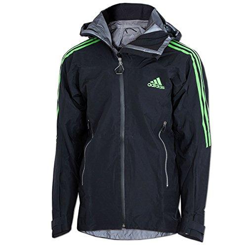 adidas Terrex Advanced Jacke Gore-Tex Pro Outdoor Hardshell Jacket (schwarz-grün, 48)