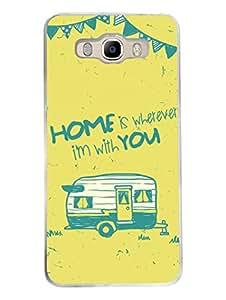 Samsung J7 2016 Back Cover - My Sweet Home - Wanderlust - Designer Printed Hard Case with Transparent Sides