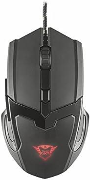 Trust Gaming GXT 101 Mouse da Gioco, Illuminato a 4800 DPI, Dotato di 6 Pulsanti, Nero