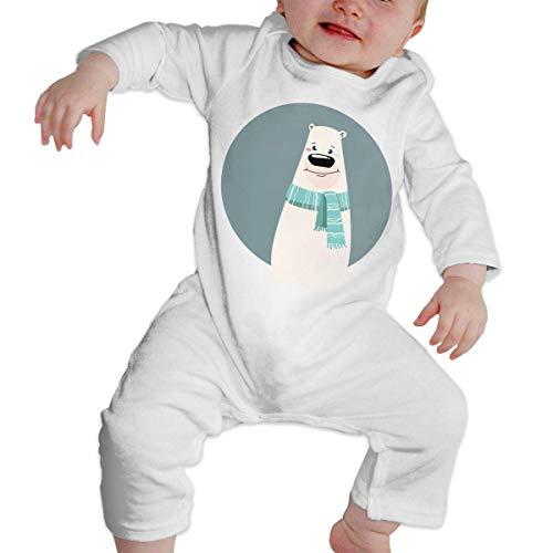 Monicago Neugeborenes Baby Jungen Mädchen Babybody Langarm, Baby Boys Girls Bodysuit Cartoon Bear Stylized Polar Bear Jumpsuit Onesies Long Sleeve Unisex