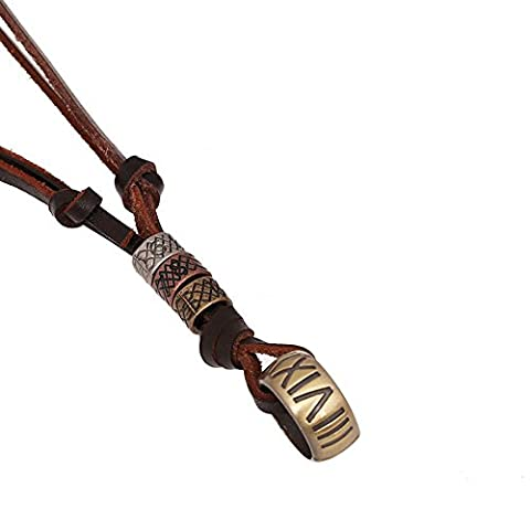 HFJ&YIE&H Bijoux Pendentif de collier Quotidien Cuir Hommes Brun Cadeaux de mariage , one size