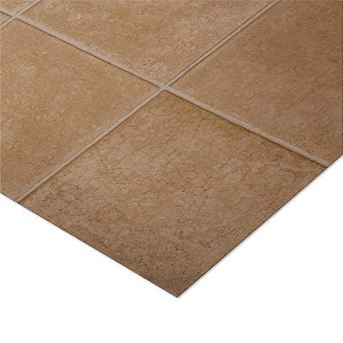 casa purau00ae CV Bodenbelag Malaga | Beige | edle Fliesenoptik | Oberfläche strukturiert | Meterware (200x3000cm)