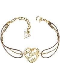 Guess Damen-Armband MANIA Edelstahl teilvergoldet Leder 20 cm-UBB61105-S