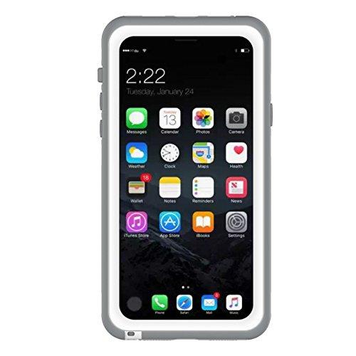 iPhone 8 Coque, Vandot Coque Étanche Étui de Protection pour iPhone 8 / iPhone 7 4.7 Pouces Waterproof Case Anti-Choc Anti-Neige Anti-Poussière Housse [TPU+PC+PET] Solide Robuste Housse [IP68] Waterpr Étanche-Blanc
