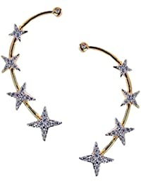 JSD Gold Plated American Diamond Earcuff For Women and Girls