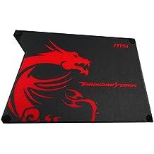 MSI Thunderstorm Aluminium - Alfombrillas de ratón Gaming, Color Negro y Rojo