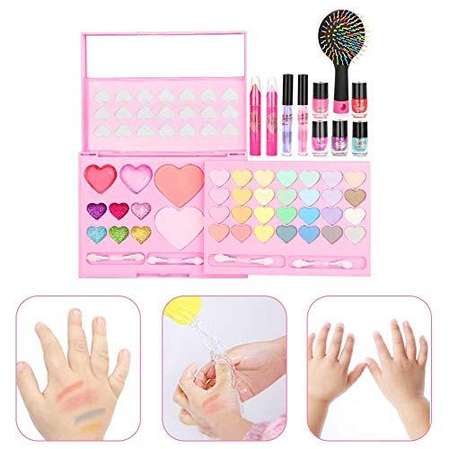 Krystallove Kinder waschbar Make-up-Set - echte Kosmetik-Set mit Blinkender Kosmetiktasche -...