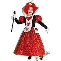 PRESTIGE   DELUXE Costume Vestito Carnevale Regina dei Cuori Taglia Anni 5  6 7 8 9 58a66a1fcbee