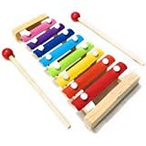 woodykraft wooden xylophone musical toy for children with 8 note (big size) - pack of 1- Multi color