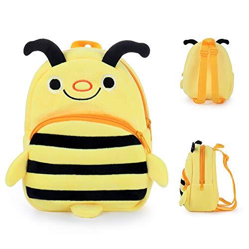 Babyrucksack, Bwei Mini Backpack Kinderrucksack Kindergartentasche für Baby Mädchen und Jungen Kleinkinder 1-5 Jahre, Biene auswahlbar (Gelb)