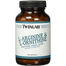 Twinlab - L-arginina y aminoácidos de forma libre L-ornitina - 100 cápsulas