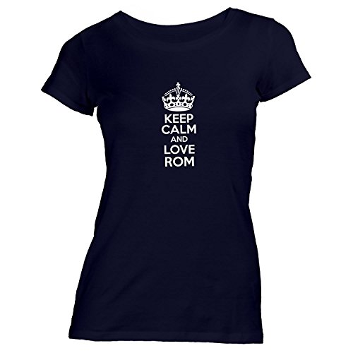Damen T-Shirt - Keep Calm And Love Rom - Heimweh Geschenkidee Italien Schwarz