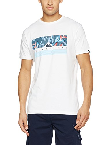 Quiksilver Herren Classic Jungle Box T-Shirt sea salt